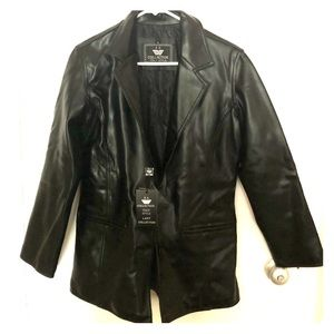 ‼️SOLD‼️ Black leather jacket - new with tags
